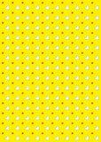 Amarillo del fondo del modelo del corazón Foto de archivo