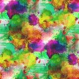 Amarillo del fondo, verde, textura púrpura Imagen de archivo