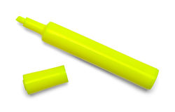 Amarillo del Highlighter del marcador abierto Imagen de archivo