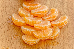 Amarillo delicioso de la mandarina Imagenes de archivo