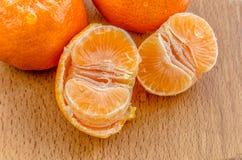 Amarillo delicioso de la mandarina Fotografía de archivo libre de regalías