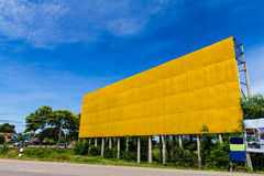 Amarillo grande de la bandera Imagen de archivo