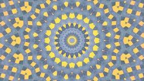 Amarillo gris del efecto caleidoscópico stock de ilustración
