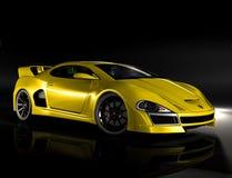 Amarillo hiperactivo 1 del coche Fotografía de archivo libre de regalías