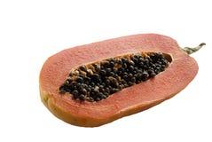 Amarillo maduro de la papaya Fotos de archivo