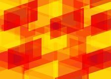 Amarillo-naranja patternred geométrico del fondo Foto de archivo