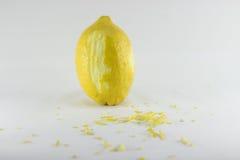 Amarillo natural orgánico healty de la fruta fresca del limón Foto de archivo libre de regalías
