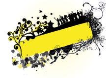 Amarillo negro Imágenes de archivo libres de regalías