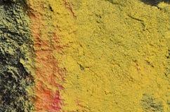 Amarillo pintado concreto Foto de archivo