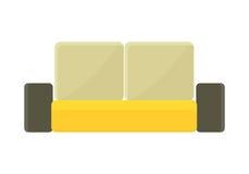 Amarillo - sofá de Brown Imagen de archivo libre de regalías