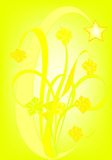Amarillo suave Foto de archivo libre de regalías