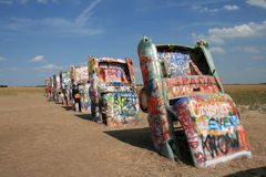 Amarillo,TX Cadillac Ranch Royalty Free Stock Photos