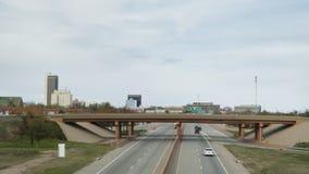 Amarillo, TX die van I40 naderbij komen die west gaan royalty-vrije stock afbeeldingen