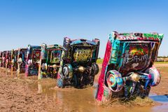 Historic Cadillac Ranch Royalty Free Stock Image