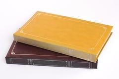 Amarillo y álbumes de foto de Brown imagen de archivo