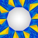 Amarillo y azul del fondo del triángulo Fotografía de archivo
