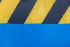 Amarillo y negro del camino Fotos de archivo libres de regalías