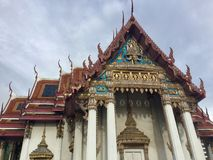 Amarin Temple Roof, royalty free stock photography