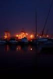 Amarração da noite fotografia de stock
