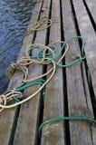 Amarração de madeira Foto de Stock Royalty Free