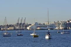 Amarração do navio de cruzeiros no cais Auckland do Queens fotos de stock