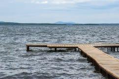 A amarração no lago Fotos de Stock Royalty Free