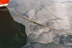 Amarrage dans un port de pêche Image stock