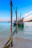 Amarrage de bateaux de pêche Images libres de droits