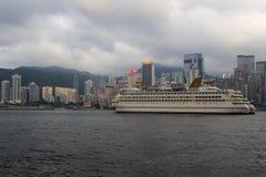 Amarrage de croisière d'étoile de la Chine à Hong Kong Image stock