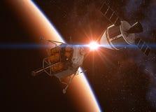 Amarrage de véhicule d'exploration d'équipage illustration libre de droits