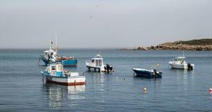 Amarrage du bateau du pêcheur Image stock