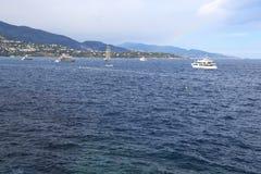Amarre de Mónaco Foto de archivo libre de regalías