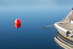 Amarre de un barco Foto de archivo libre de regalías