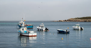 Amarre del barco del pescador Imagen de archivo