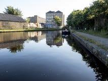 Amarre del canal de Slaithwaite Fotografía de archivo libre de regalías