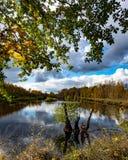 Amarre el paisaje del lago imagenes de archivo
