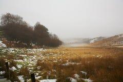 amarre l'hiver du nord Yorkshire Images libres de droits