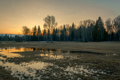 Amarre la puesta del sol Imagen de archivo libre de regalías