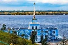 Amarrez le bâtiment à quai dans le Zaimka complexe de touristes près de la ville de Khabarovsk Russie images libres de droits