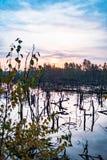 Amarrez le paysage de lac image libre de droits