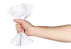 Amarrotando a folha de papel foto de stock royalty free