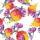Amaryllis rose Modèle sans couture de fond Texture d'impression de papier peint de tissu Photographie stock libre de droits