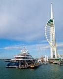 Amaryllis and Spinnaker tower Royalty Free Stock Images