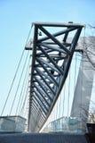 Amasing Akrobaten fot- bro i Oslo, Norge arkivfoto