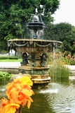 Amasing baroque fountain In the Volkspark, Vienna Royalty Free Stock Photos