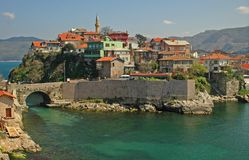 Amasra. The  Turkish city of Amasra in the black sea Royalty Free Stock Image
