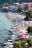 Amasra Beach. Crowded beach at Black Sea region in Turkey Stock Photography