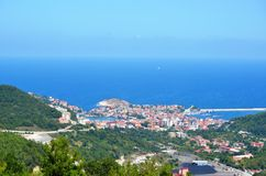 Amasra the most beautiful holiday venues Turkey. Welcome to Black's gruff and rough seas Royalty Free Stock Photography