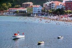 Amasra Strand bei Bartin in der Türkei Lizenzfreie Stockfotografie