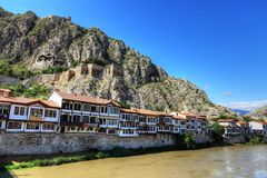 Amasya is an ancient city in Turkey. Also it is known as Ottoman`s Prince City. stock photo